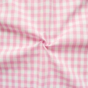 Baumwolle Stoff  Rosa Weiß