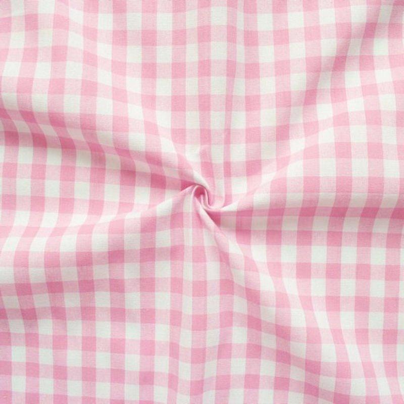 Baumwolle Stoff  Rosa Weiß Karo
