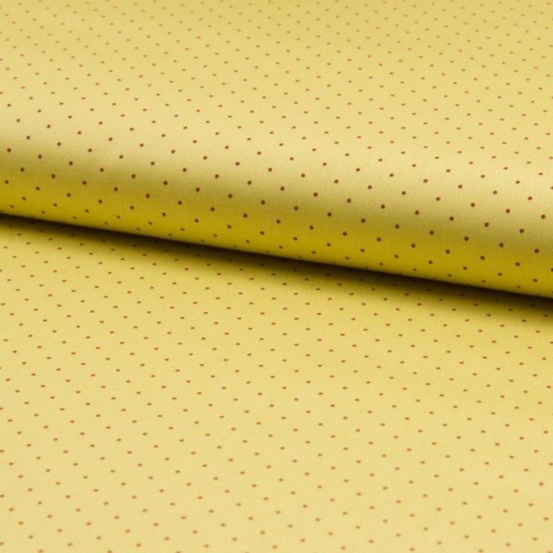 Baumwolle Stoff Gelb Punkte