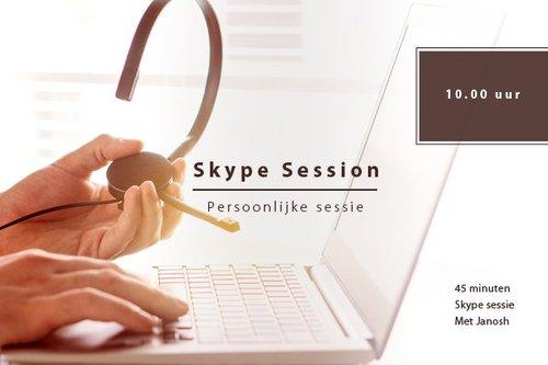 Skype sessie woensdag 30 - 01 | 11hr.