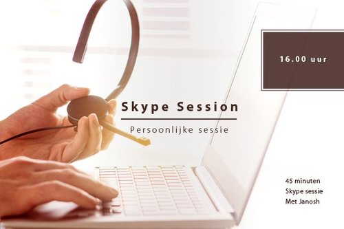 Skype sessie woensdag 30-01 | 17hr.