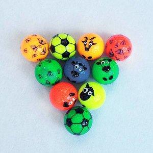 Assorti mix van GlowGolfballen met funprint