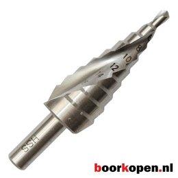 Stappenboor 4-20 mm met spiraal