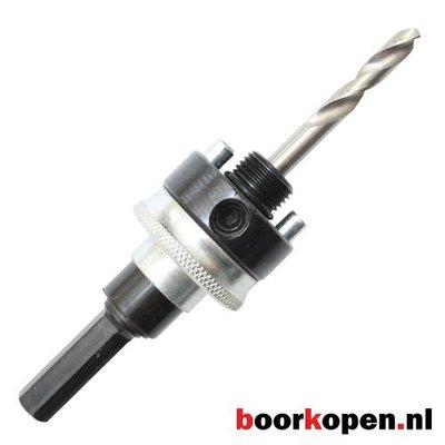 Snelwissel zeskant houder met veer metaal gatzagen 32-210 mm