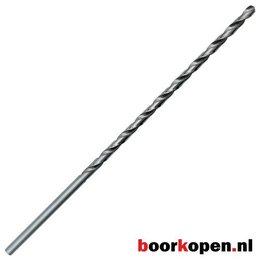 Metaalboor 8 mm HSS geslepen 390 mm lang