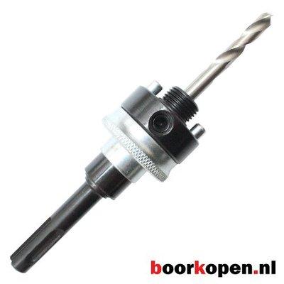 Snelwissel SDS plus houder met veer metaal gatzagen 32-210 mm