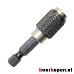 """Magnetische snelwissel bithouder 1/4"""" met quicklock (50mm)"""
