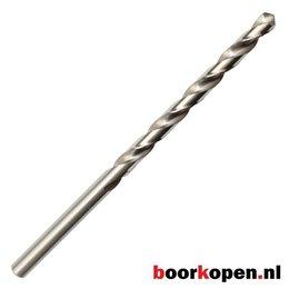 Metaalboor 8,1 mm HSS geslepen 165 mm lang 5 stuks