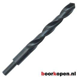 Metaalboor 18 mm HSS rolgewalst afgedraaid op 10 mm
