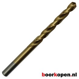 Metaalboor 3 mm HSS geslepen titanium gecoat 10 stuks