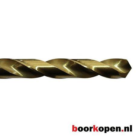 Metaalboor 6 mm HSS geslepen titanium gecoat 10 stuks