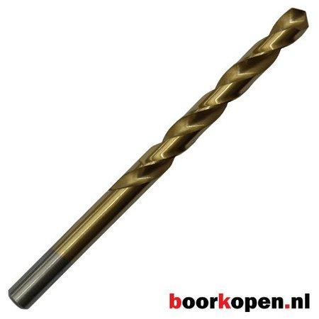 Metaalboor 10 mm HSS geslepen titanium gecoat 5 stuks