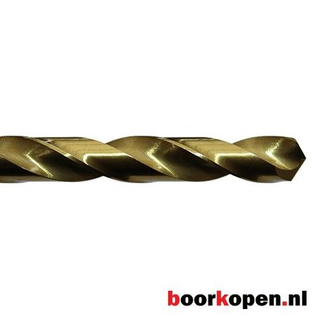 Metaalboor 10,5 mm HSS geslepen titanium gecoat 5 stuks