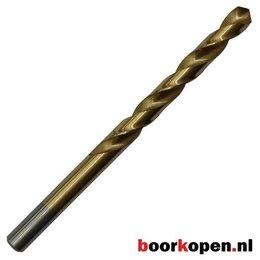 Metaalboor 13 mm HSS geslepen titanium gecoat 5 stuks