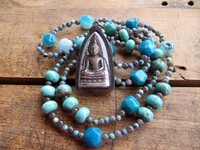 Chains of gemstone with a beautiful Buddha Lucky Charm