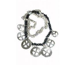 Lucky Boeddha Black bracelet with charms