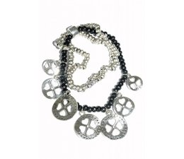 Lucky Boeddha bracelet noir avec des charmes