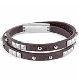 SECTOR SADP05 Rock armband in bruin leder