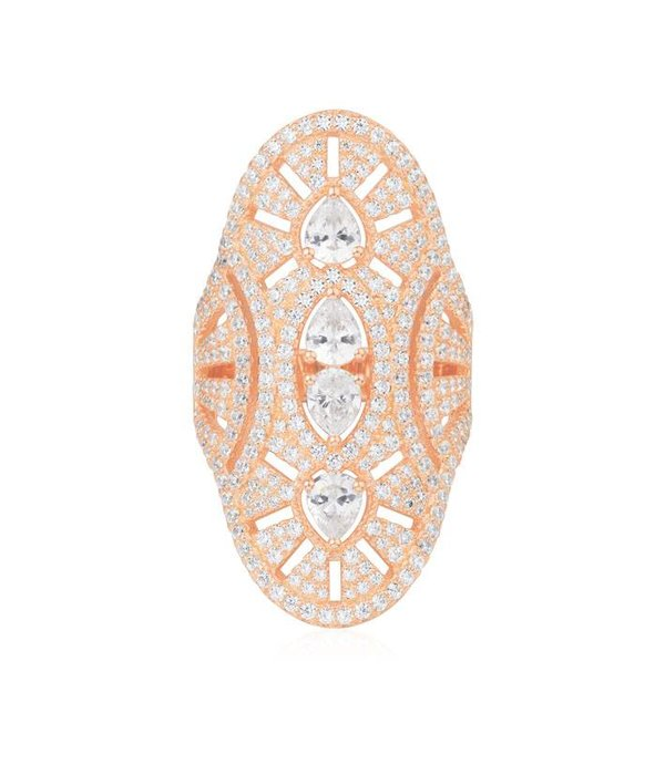 APM MONACO Vintage - R17854OX - ring - crystal - rose colored