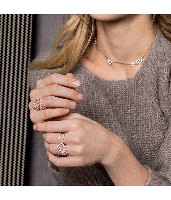 APM MONACO Cashmere - R17869OX - ring - cristal - rose coloré
