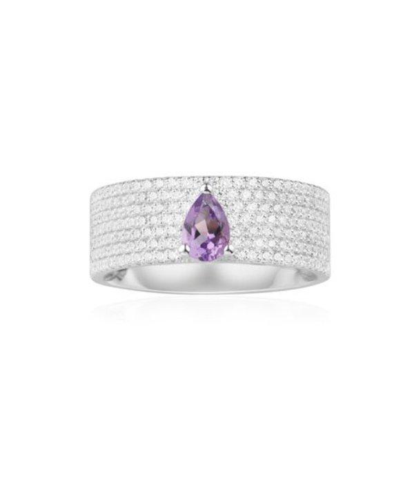 APM MONACO Luna - A17779XAM - ring - crystal - silver 925% - silver