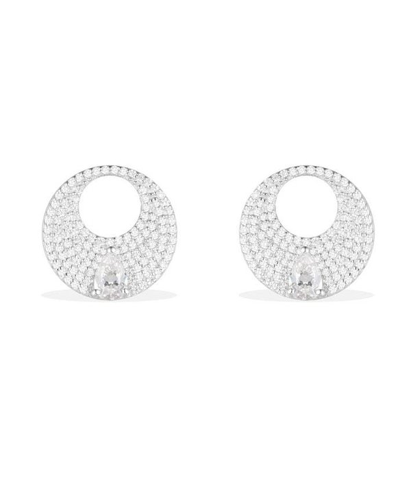APM MONACO Luna - AE9886OX - oorhangers - kristallen - zilver 925%