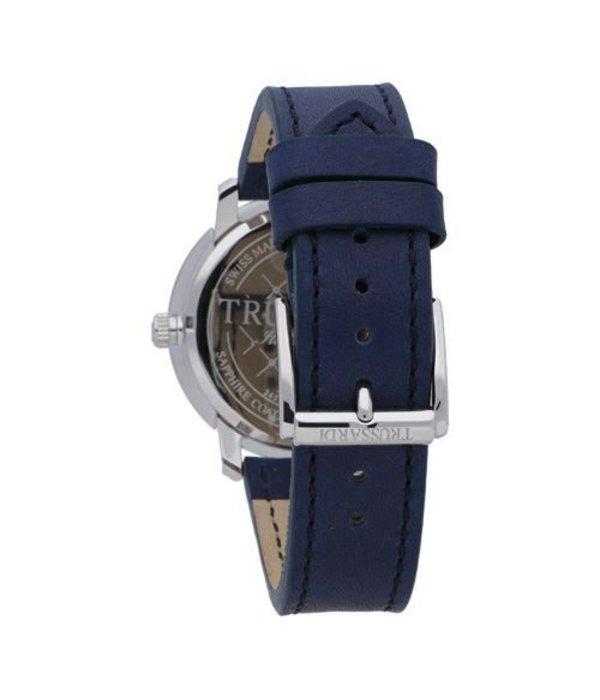 TRUSSARDI Sinfonia R2451107002 - montre - fabrication suisse - cuir - couleur argent - 42mm