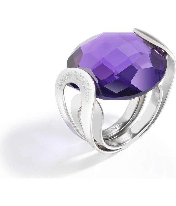 PIANEGONDA Brightness - FP008001 - ring - zilver 925% - paars kleurig