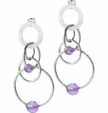 PIANEGONDA Cosmos - FP004003 - Earrings - Paars Color - Silver 925%