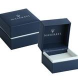 MASERATI  JM417AKW09 - bracelet - cuir - couleur noir et argent - 22cm