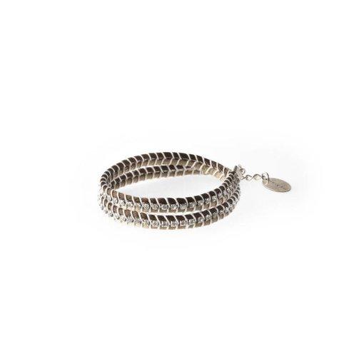 MAY mOma Bracelet SNAKE bicoloured BEIGE