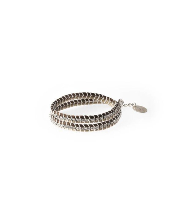 MAY mOma Armband SNAKE BICOLOURED BEIGE SNK2
