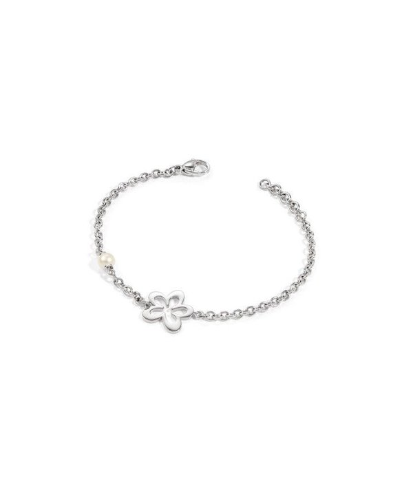 MORELLATO Morellato ICONE MORE ARMBAND roestvril staal met bloemen detail SYT07