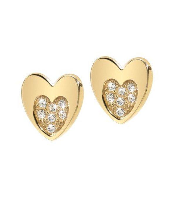 MORELLATO Morellato SOGNO EARRINGS in yellow gold PVD with crystals SUI12