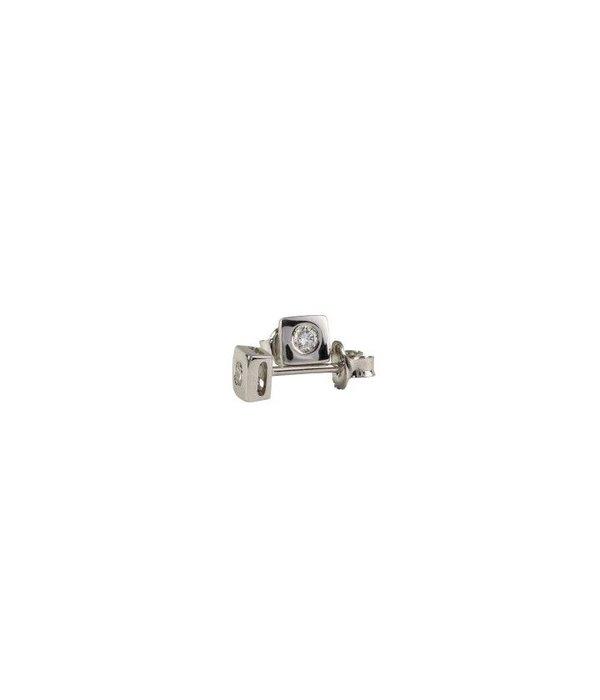 DIAMOND STUD EARRINGS BEZELSET GJ / E0077W018