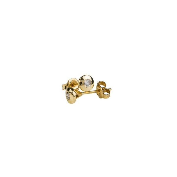 DIAMOND STUD EARRINGS BEZELSET