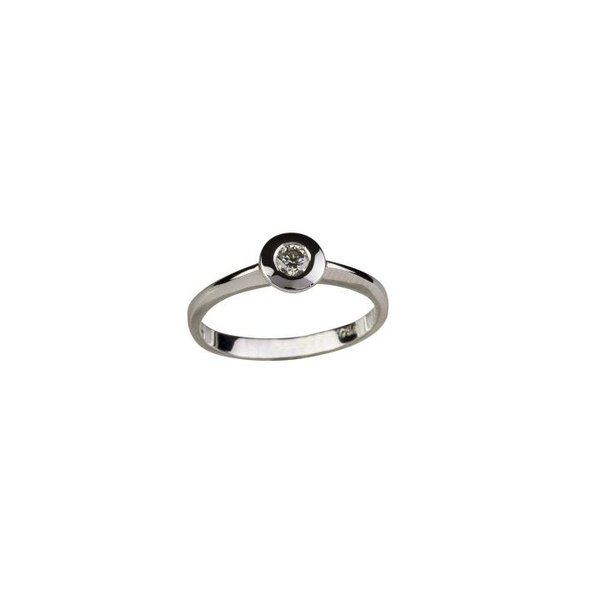 BEZELSET SOLITAIRE RING