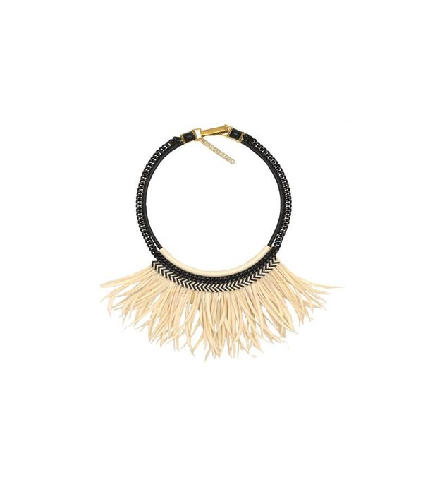 FIONA PAXTON FIONA PAXTON necklace Freja Cream PH002 with feathers