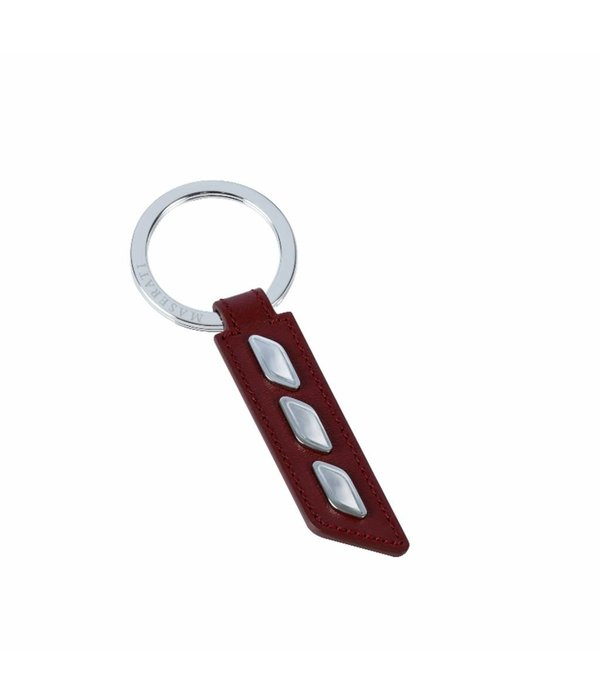 MASERATI  KEY RING - KMU4160123 - RED LEATHER