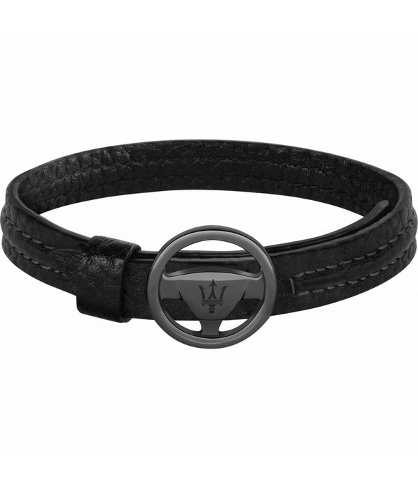 MASERATI  JM118AMC08 armband - leer - zwart kelurig - 250mm