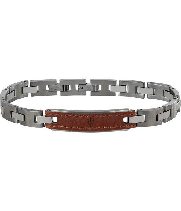MASERATI  JM218AMD01 - bracelet - leather - silver - 215mm