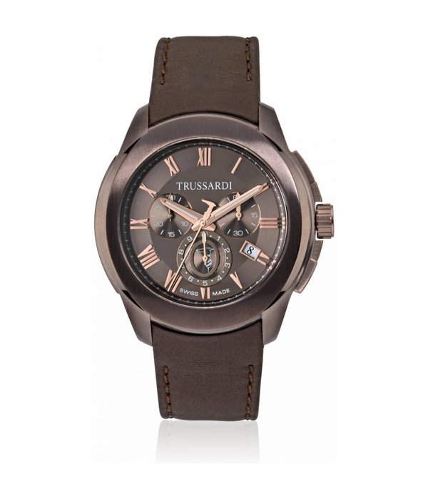 TRUSSARDI Trussardi T01 R2471100001 - watch - chronograph - bronze colored - 44mm