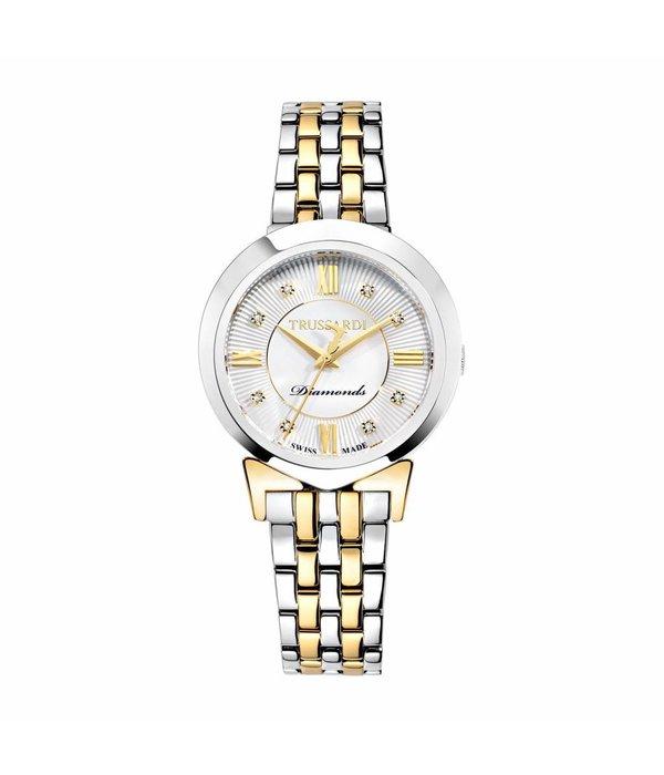TRUSSARDI Trussardi R2453105507 Antilia - Uhr - Diamant - Gold und Silber - 34mm