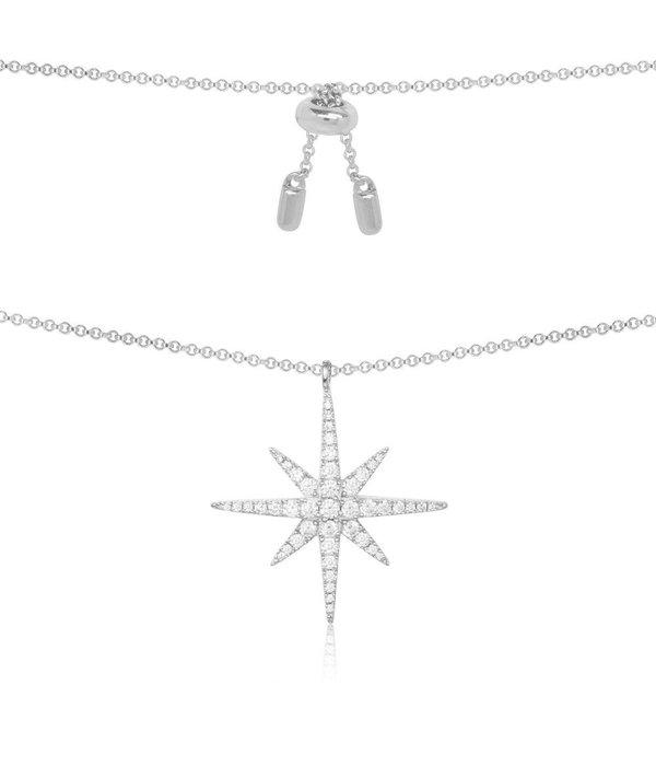 APM MONACO Apm Monaco AP9606OX Meteoriten - Halskette - Silber 95% - Kristalle - 45cm