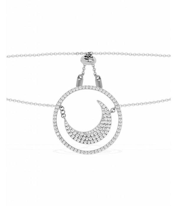 APM MONACO Apm Monaco Flamenco AC3139OX - Halskette - Silber - Kristalle - 50cm