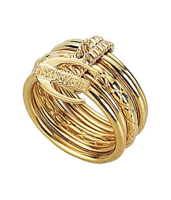 JUST CAVALLI Juste Infinity anneau jaune PVD or SCHX06 en acier inoxydable