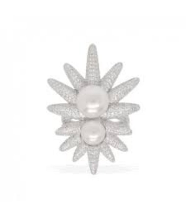 APM MONACO APM MONACO RING Météorites avec perles en ARGENT RÉEL A16638XPL