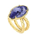 JUST CAVALLI Just Cavalli Just Hipnose stainless steel ring with blue stone SCADU05