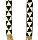 FIONA PAXTON Fiona Paxton Halskette Louise Schwarz SSP101 in weißen und schwarzen Perlen auf Baumwolle