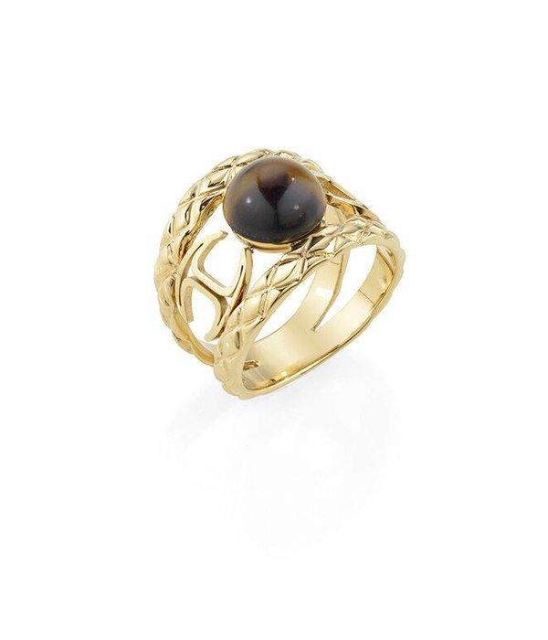 JUST CAVALLI Ring Just Fierce SCAEP03 in goudkleurig  edelstaal met hars SCAEM10